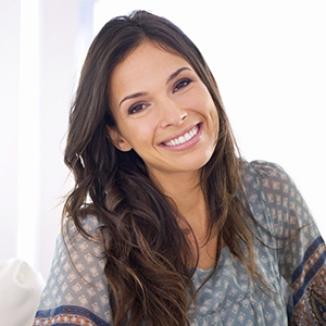 Woman with gorgeous healthy smile