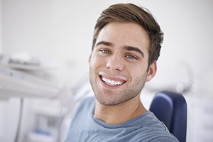 Young man with gorgeous white smile