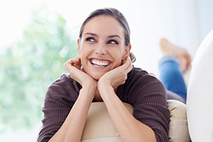 Happy woman with gorgeous smile
