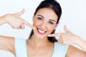 woman white smile