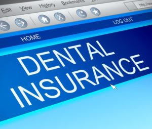 Dental insurance on computer for dentist in Lewisville.