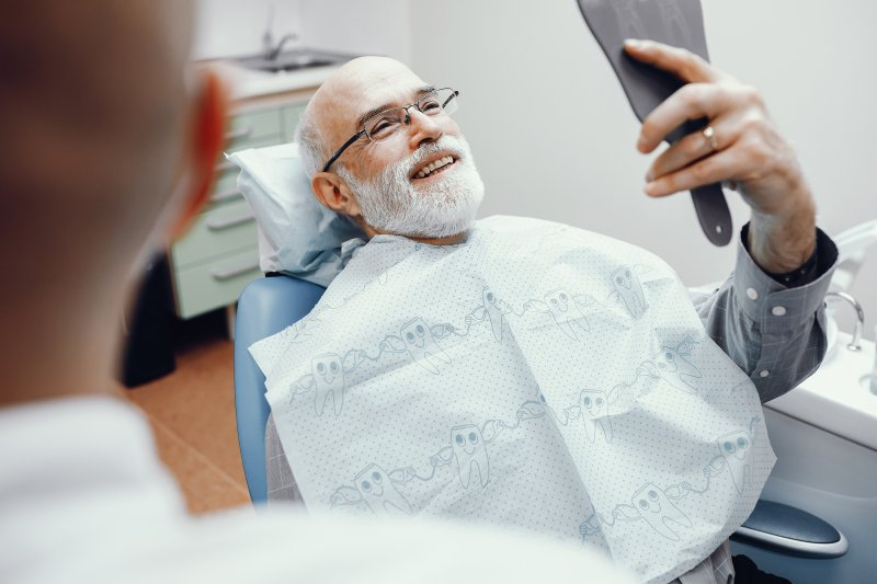 Man in the dental chair